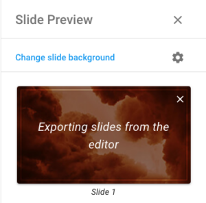 Slide preview drawer